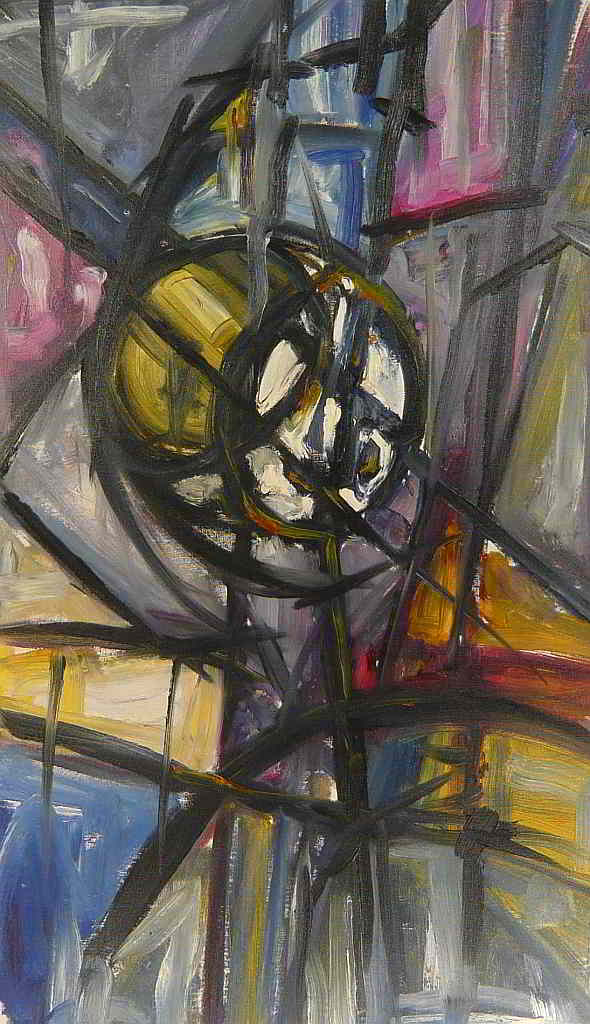 abstract oil colours on canvas  1994