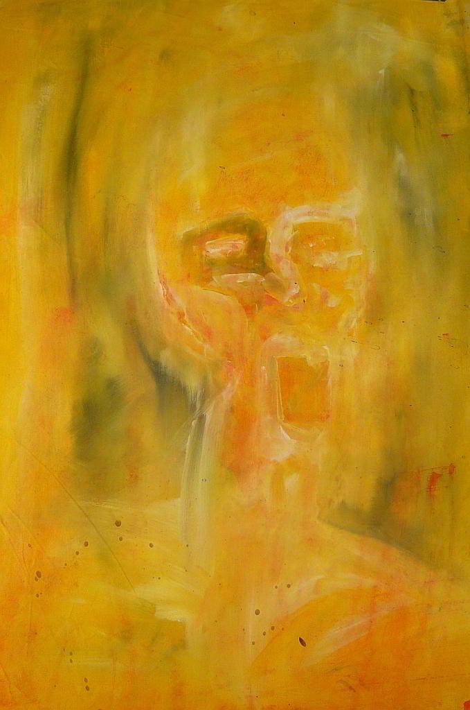face acrylic colours on canvas 1994