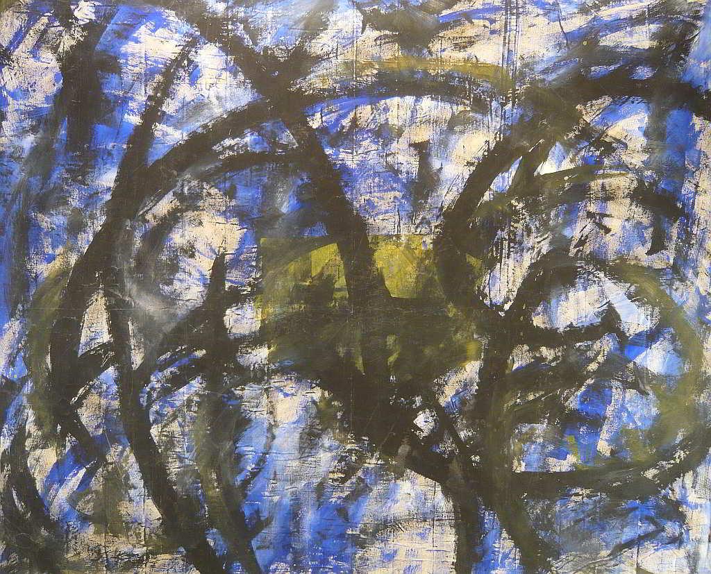 study 5 acrylic colours  on canvas 1998