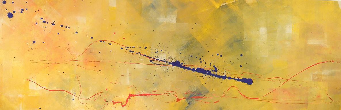raggio di luna 29.01.2008 31.01.2008 2.29 x 0.76 acrylic on canvas#L.XIV