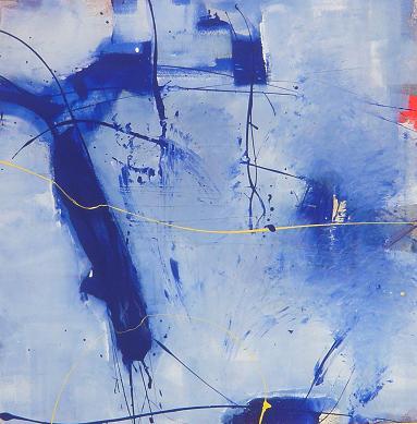 blue sign 06.03.2009 07.03.2009 0.80x0.80 acrylic on canvas#L.XIV