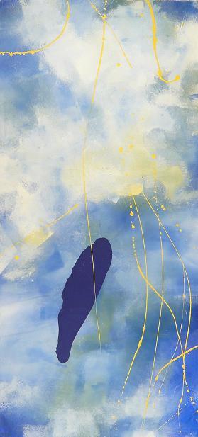 enchanted petal 08.06.2009 09.06.2009 10.06.2009 13.06.2009 0.65x1.45 acrylic on canvas#L.XIV