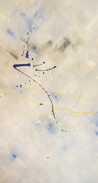 riflesso 13.01.2008.19.01.2008 1.04x1.91 acrylic on canvas