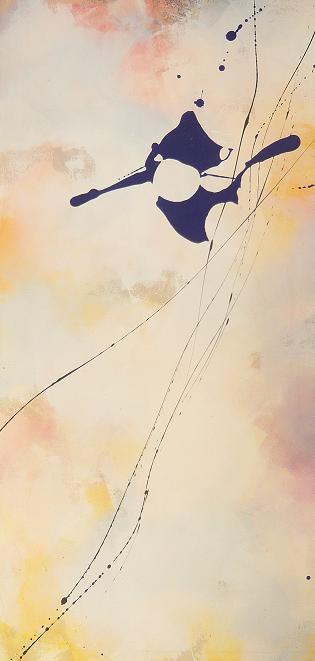 gaze 27.05.2009 28.05.2009 0.70x1.40 acrylic on canvas#L.XIV