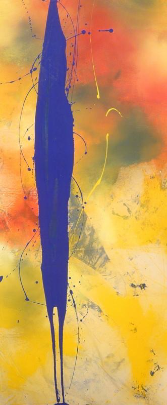 scent 13.07.2009 14.07.2009 0.66x1.46 acrylic on canvas#L.XIV
