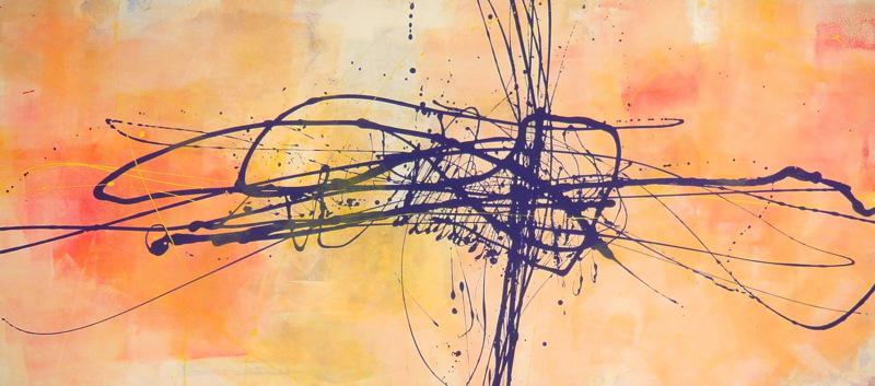 silence 13.03.2009 14.03.2009 17.03.2009 18.03.2009 1.80x0.80 acrylic on canvas#L.XIV