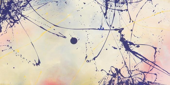 time 11.05.2009 1.20x0.60 acrylic on canvas#L.XIV