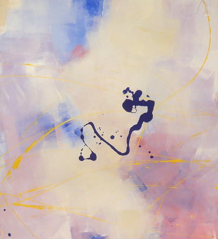 new word 06.03.2009 07.0.2009 0.80x0.90 acrylic on canvas#L.XIV
