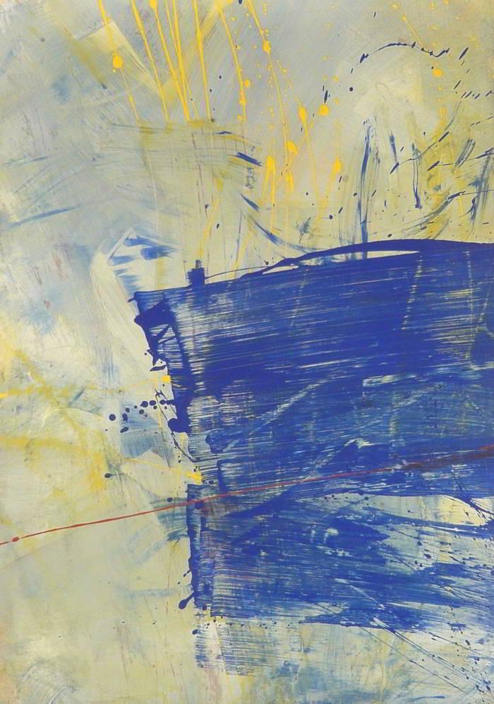word 16.07.2009 17.07.2009 0.90x0.60 acrylic on canvas#L.XIV