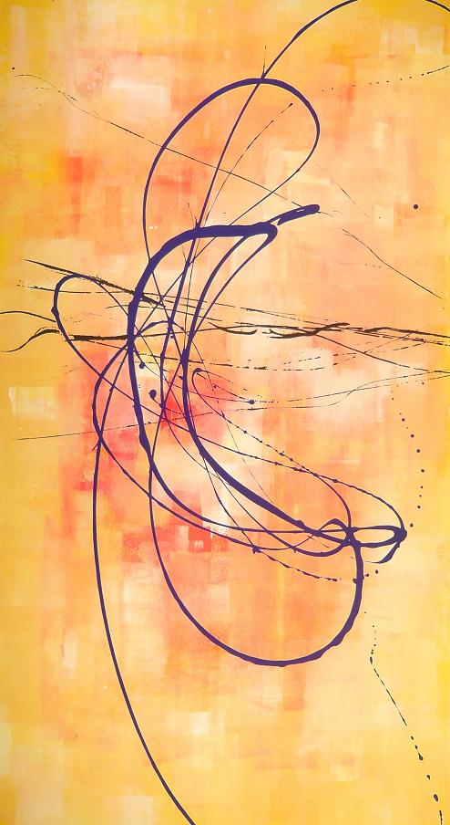 avvolta nel vento 06.01.2008 07.01.2008 12.01.2008 1.11x1.98 acrylic on canvas#L.XIV
