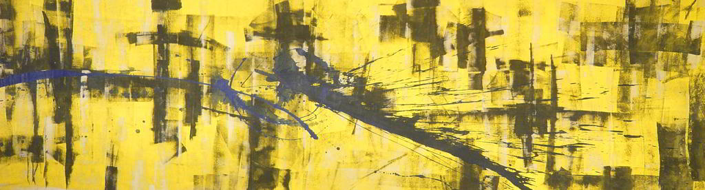 abstract study#9  4.00x1.00    acrylic colours   on canvas 1996