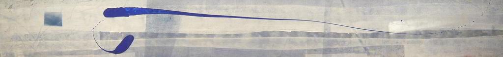 atto2 1999 2.95x0.45  acrylic colours   on canvas