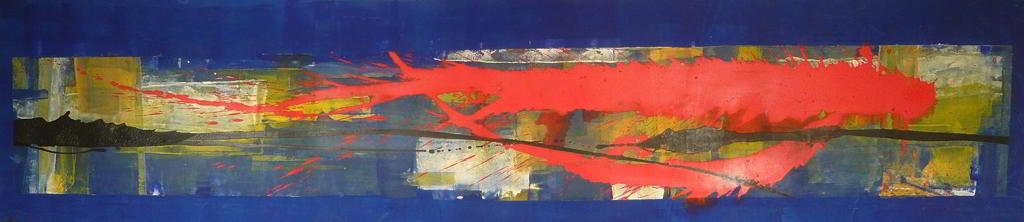 atto4 1999 2.95x0.50   acrylic colours  on canvas