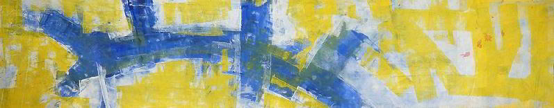 studio#1 1996 4.00x1.00   acrylic colours  on canvas