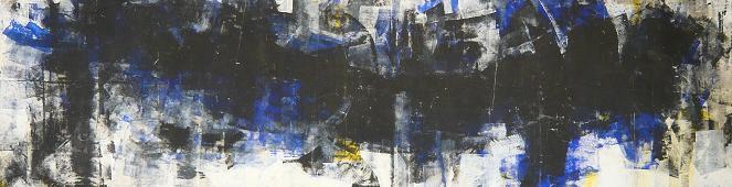 studio#2 1996 4.00x1.00  acrylic colours on canvas