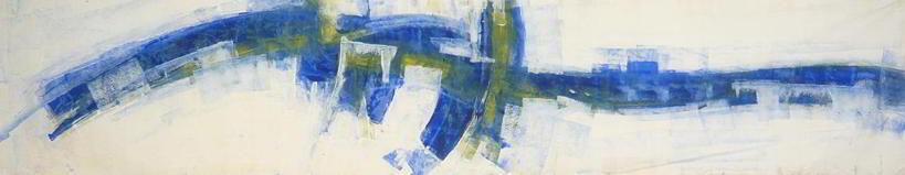 studio#5  1996 4.00x1.00  acrylic colours on canvas
