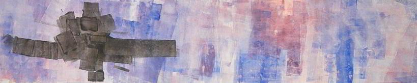 studio#6 1996 4.00x1.00  acrylic colours  on canvas
