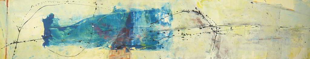 studio#8 1996 4.00x1.00  acrylic colours  on canvas