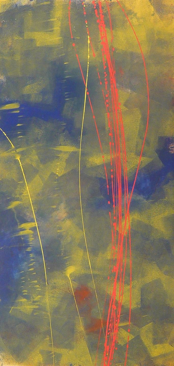 vibration of interval 05.04.2010 08.04.2010 14.04.2010 0.70x1.39 acrylic on canvas#L.XIV