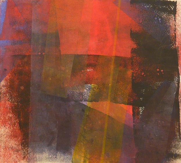 a rumbling dark 51x60 2014 acrylic on canvas D.L.XIV