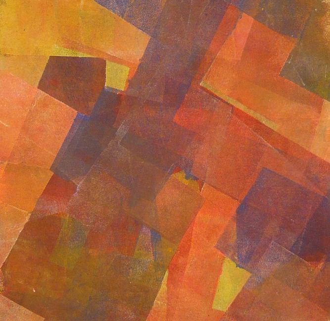 the sleppy ground 56x56 2014 acrylic on canvas D.L.XIV
